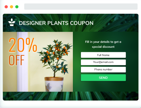 Desktop Landing Page for eCommerce